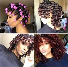 Curls & Length Goals. Love the color but, I'd like an auburn color for myself.