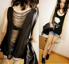 2013 Fashion Loose Irregular Sweep Women's Summer Sexy Sleeveless Back Cutout T Shirt Plus Size 131A from Reliable 2013 summer dressfashions suppliers on IDEAL Choice International Limited. $13.34