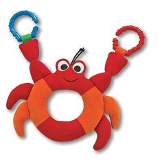 Melissa & Doug Linking Crab Grasping Toy for Baby - Teething Rings Hook Onto Stroller Toy Express, Crab Party, Wooden Baby Toys, Fisher Price Toys, Melissa & Doug, Toy Kitchen, Bath Toys, Baby Games, Infant Activities