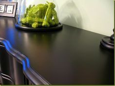 """DIY> How to paint furniture black to get that high-end """"Pottery Barn-esque"""" look. These instructions are so good."""
