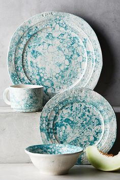 Slide View: 2: Marbled Glenna Dinner Plate