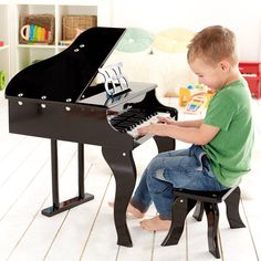 Hape Happy Grand Piano Black Let your child be their own little Beethoven with the Hape Happy Grand Piano in black.