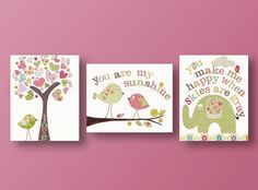 Nursery art prints baby nursery decor kids wall by GalerieAnais, $42.00