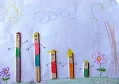 # my family activities Popsicle Stick Families Preschool Family Theme, Family Crafts, Preschool Lessons, Preschool Crafts, Toddler Crafts, Crafts For Kids, Crafts Toddlers, Children Crafts, Pop Sicle