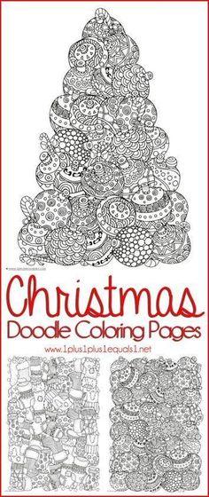 Libres de la Navidad para colorear páginas para adultos en U crea ...