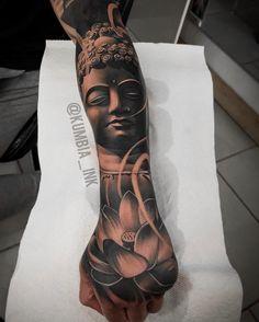 Buddha tattoo by the best artist Buddha Tattoos, Buddah Sleeve Tattoo, Buddhism Tattoo, Buddha Tattoo Design, Japanese Forearm Tattoo, Cool Forearm Tattoos, Japanese Sleeve Tattoos, Arm Tattoos For Guys, Body Art Tattoos