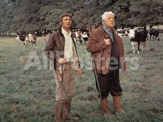 Jean Gabin and Michel Barbey: La Horse, 1970 by Marcel Dole Movies Photographic Print - 61 x 46 cm