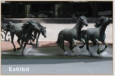Go visit the Mustangs of Las Colinas in Williams Square Plaza...the largest equestrian sculptures in the world!