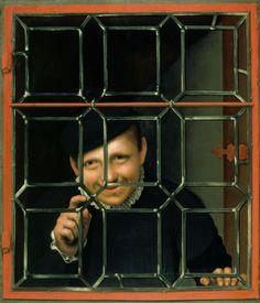 Flemish School,A Boy Looking through a Casement,c.1550-60.Oil on panel.73.8x61.6 cm.RCIN 404972 Royal Collection Trust/© Her Majesty Queen Elizabeth II 2015 https://www.royalcollection.org.uk/collection/404972/a-boy-looking-through-a-casement.