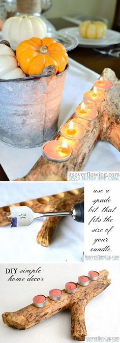 Simple DIY Candle Ho