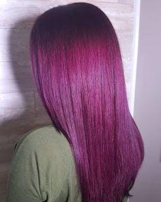 wine straight hair