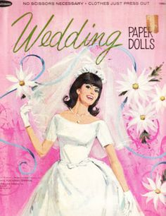 -Whitman vintage 1966 wedding paper doll book