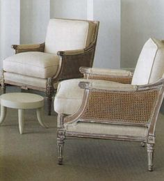 Houston living room designed by J. Randall Powers for his mother Laura Henson; Jansen armchairs are from the 1940s.