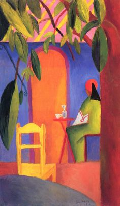August Macke Poster - Turkish Cafe