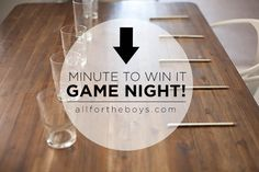 All for the Boys - All for the Boys - Minute to Win It Game Night!