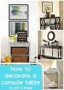 A console table or buffet is a classic piece of furniture to put in an entryway, living room, or dining room. When it's decorated well, it can be the focal point of the room. So, how do you decorate it...
