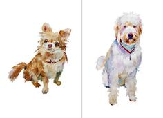 Custom Watercolor Pet Portraits and Dog Illustrations - Boxy Blogs