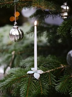 Christmas tree candle holders; Gardenista