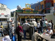 Ketchikan, #Alaska -- Alaskan Surf Harbor Restaurant -- great reviews for fish and chips and clam chowder. Right by the cruise ship docks.