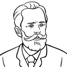 peter ilyich tchaikovsky coloring page