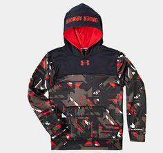 ad003418a Boys  Armour® Fleece Storm Printed Blocked Hoodie
