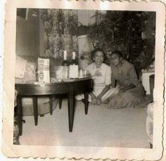 Antique photograph two African American woman sitting by Christmas tree Selling on ebay