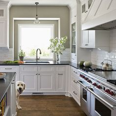 """No matter how much I like the idea of going with something a little more """"out there"""" I still can't help but be drawn towards the classic white subway tile"""