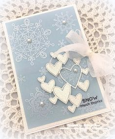 Simon Says Stamp Wednesday Challenge...New Something. SSS Exclusive products Clipping Heart Die and Frozen Fractals Clear Stamp Set.
