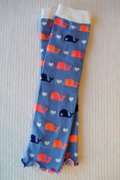 Blue Whales Ruffled Baby Leg Warmers by thelilredwagon on Etsy, $5.95