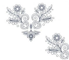 Dve Vajnorské výšivky v bielej farbe