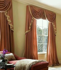 Luxury curtains and drapes 2015 colors, designs, ideas, drapes curtains colors, these is stylish curtain drapes designs with stylish drapery 2015 we can use it for living room window decorations and coverings White Kitchen Curtains, Small Window Curtains, Home Curtains, Curtains With Blinds, Valances, Country Curtains, Valance Curtains, Hall And Living Room, Living Room Windows