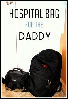 10 Helpful Hospital Bag packing list items for the soon-to-be dad!
