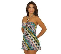 Fit 4 U Thighs Tribal Dreams Bandeau Keyhole Dress with Beads Keyhole Dress, Fit 4, Swim Cover, Swim Dress, Swimsuits, Swimwear, Your Best Friend, Dillards, Summer Fun