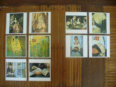 """Cartes : """"focus sur des tableaux célèbres"""". L'objectif est d'associer une peinture (choisie dans notre collection) à un détail agrandi de celle-ci."""