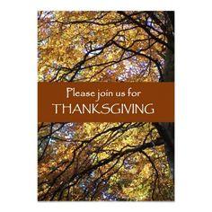 Thanksgiving Invitation Card - Fall Colors: http://www.zazzle.com/thanksgiving_invitation_card_fall_colors-161293788614369046?rf=238041988035411422