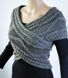 Super Slim traversa maglione/Capelet/scaldacollo in di MaxMelody