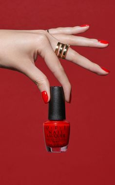 To the Mouse House We Go - a ruby red from the new OPI California Dreaming collection.