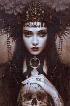 She's patient. It's been ordained your soul will come to her at the end. Payment for the deal you struck Fantasy Art Women, Dark Fantasy Art, Witch Aesthetic, Aesthetic Art, Halloween Imagem, Rabe Tattoo, Arte Obscura, Dark Art Drawings, Goth Art