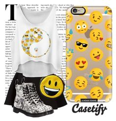 """EMOJI my heart"" by casetify ❤ liked on Polyvore featuring Casetify, Neil Barrett, Miller, Dr. Martens, cool, ootd and emoji"