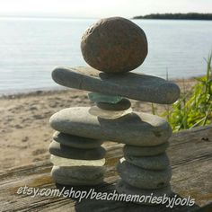 Build your own Inukshuk,  inukshuk statue, inukshuk art, inukshuk, etsy, beachmemoriesbyjools, rock art, stone art, beach glass art, sea glass art, make your own