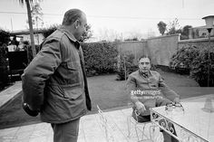 Leader Augusto Pinochet at Home with His Chief of Staff