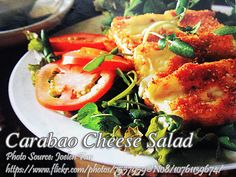 Carabao Cheese Salad http://www.filveggie.com/salads/carabao-cheese-salad.php #CarabaoCheese #Salad