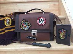 Sac Quadrille et Portefeuille Compère Harry Potter cousus par Meylia - Patron Sacôtin