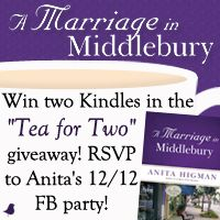 """ENTER Anita Higman's Double Kindle Fire Giveaway & RSVP for """"Tea for Two"""" 12/12 Facebook Party! Enter Today   11/18 - 12/12!"""