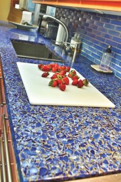 Kitchen inspiration: recycled glass countertop