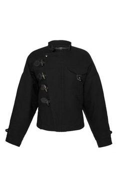 Black Satin Garry Jacket by Isabel Marant for Preorder on Moda Operandi