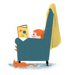 Reading - Ella Bailey Illustration