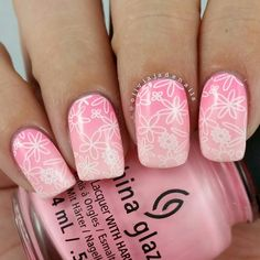 Next up for #nailartchallengemarch is Spring. What says spring more than flowers, past... | Use Instagram online! Websta is the Best Instagram Web Viewer!