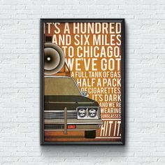 Blues Brothers poster Bluesmobile poster von TheCelluloidAndroid