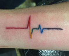 Gay Pride Tattoos, Equality Tattoos, Gay Tattoo, Wrist Tattoos, Body Art Tattoos, Tattos, Dream Tattoos, Mini Tattoos, Small Tattoos